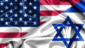 USA and Israeli flags